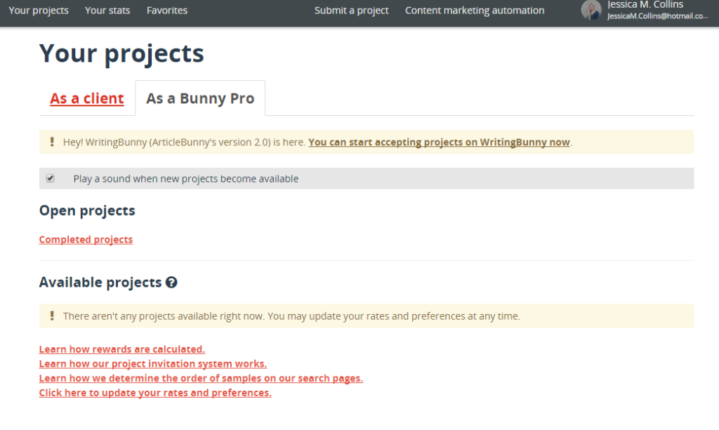 Bunny Inc Review for freelance writing jobs