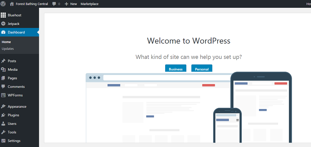 What brand new WordPress site looks like