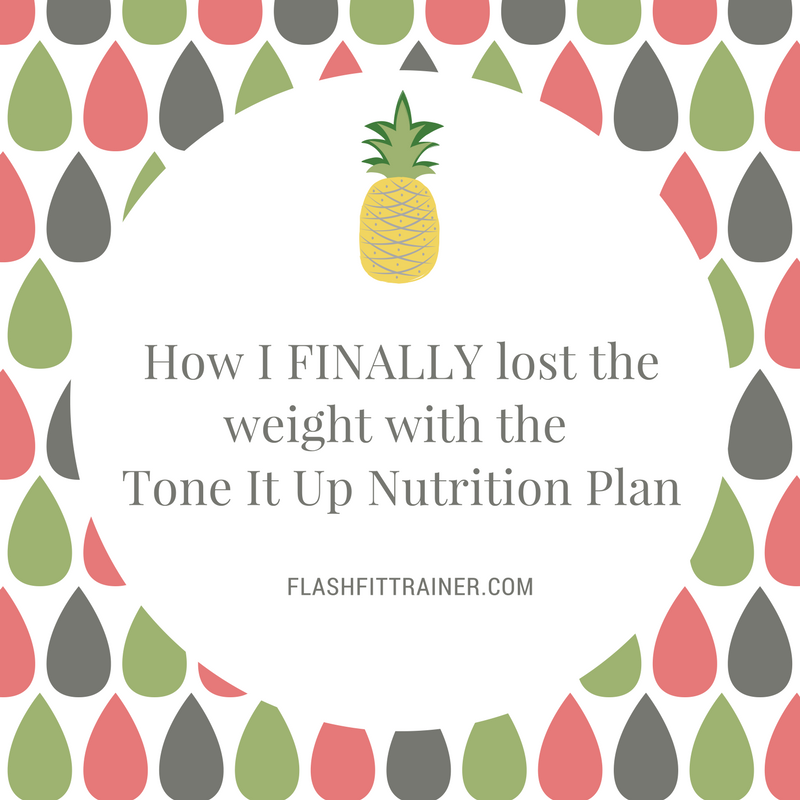 weight loss before after tone it up nutrition plan