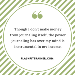 power of journaling quote