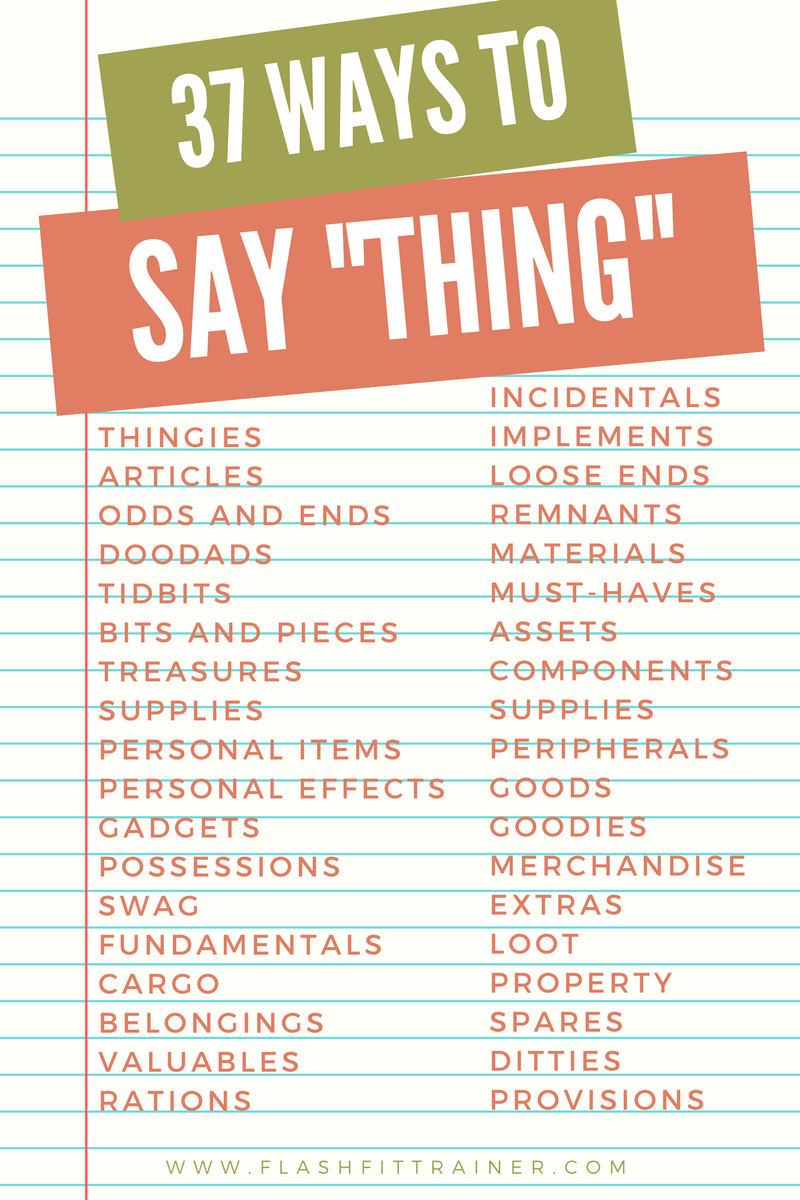thing other words archives flashfit trainer