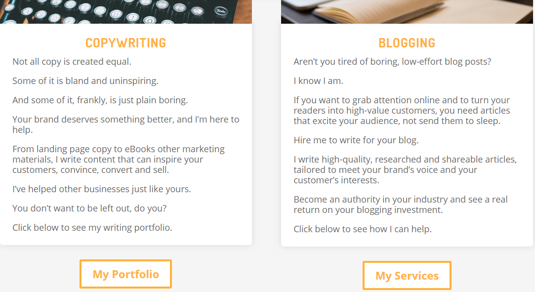 7 of the Most Impressive Freelance Writer Portfolio Examples on the